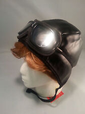 Aviator Helmet & Goggles Wright Bros Tuskegee Airmen Amelia Earhart Wax Museum