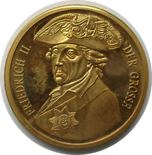 Medaille Friedrich II der Grosse , Pro Gloria et Patria,vergoldet