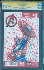 Avengers 1 CGC 9.2 SS Captain America Original art Infinity War Movie Sketch no8