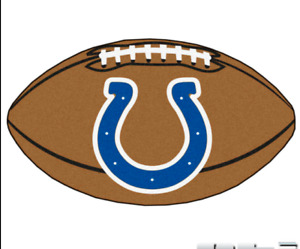 Indianapolis Colts NFL Football-shaped Door Mat Area Rug by FanMats NWT New!