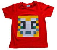 Boys Girls StampyLongNose Mr Stampy You Tube T Shirt RED PIXEL 7 TO 12 Years