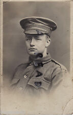 WW1 soldier AIF Australiana Cuscinetto Forces indossa impermeabile