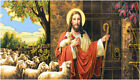 Tapestry Panels Shepherd And Sheep Bible Textile Picture without Frame 93x45