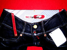 "TAKE TWO UPGRADE HÜFTJEANS FLARED JEANS ""WIMEN"" DESTROYED ITALY W27 L34 NEU TOP!"