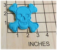 Pirate Skull and Crossbones Fondant Cookie Cutter and Stamp #1016