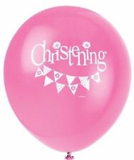 """8 x Latex Balloons 12"""" Pink Mix Bunting Christening Religious Party Decoration"""