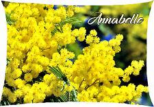 coussin rectangulaire mimosa fleur printemps personnalisable 40x28cm réf 615