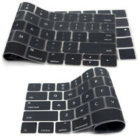 Keyboard Cover Silicone Skin Compatible MacBook Pro 13 Inch, 15 Inch A1932 A1989