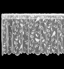 Heritage Lace White BRISTOL GARDEN Window Valance - Birds