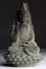 Antiker Buddha China Bronze Guan Yin antique Ming Stil P13