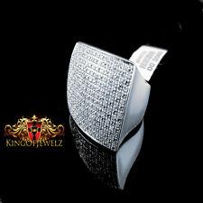 MEN'S ITALIAN SILVER 0.45 CTW GENUINE  DIAMOND ENTERNITY WEDDING PINKY RING BAND