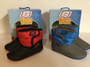 NIB SKECHERS BABY TODDLER SIZE 3 SHOES/BOOTS TIKES RED OR BLUE SIZE 3