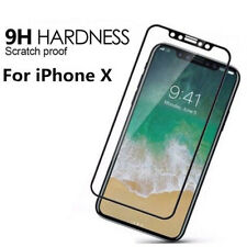 Fit For Apple iPhone 10 X 5D Curved FULL Cover Tempered Glass Screen Protector