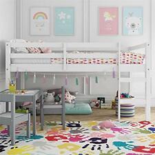 Dorel Living DA8377 Milton Junior Twin Loft Bed White