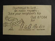 Canada Radio Repair Westboro Ottawa advertising postcard, check it out!
