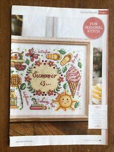 Summer Themed Sampler Cross Stitch Chart **from a magazine**