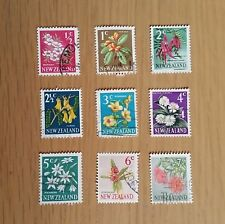 Complete New Zealand used stamp set: 1967 Flower definitives