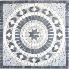 Naturstein Travertin Rosone Frisco Schwarz Weiß Grau 61x61cm