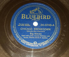 "BIG MACEO Chicago Breakdown / Winter Time Blues 10"" 78rpm Bluebird 34-0743 R&B"