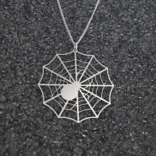 Spider Necklace, spiderweb necklace, halloween necklace, stainless steel jewelry