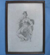 "Gravure anglaise de George HAYTER : ""La Brentuccia (Louisa Cauty)"""