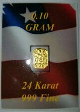GOLD 0.10 GRAM OF 999 FINE 24 karat GOLD
