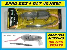SPRO BBZ-1 RAT 40 Topwater Lure GREY GHOST COLOR! FREE USA SHIPPING! #SRT40Z1GGT