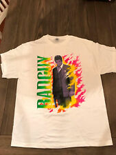NWOT NEW SCARFACE NEON COLOR FLAMES BAD GUY 100% COTTON XL WHITE T-Shirt TEE