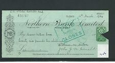 wbc. - CHEQUE - CH956 - USED -1934 - NORTHERN BANK, CLONES