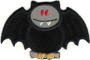 Halloween Noir Vampire Chauve-Souris Brodé Patch à Repasser