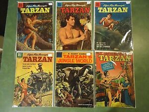Dell Tarzan Lot of 6 different, mostly good or better.