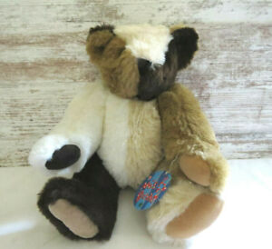 """Vermont Teddy Bear MISFIT Jointed Multi Color Patchwork Bear 15"""" New with Tag"""