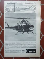 4/1960 PUB CESSNA CH-1C HELICOPTER HUBSCHRAUBER HELICOPTERE ORIGINAL AD