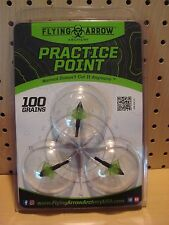 Flying Arrow Archery Toxic Practice Point Broadhead 100 Grain 3 Pack PP-100 NEW