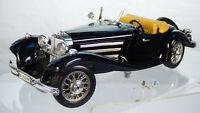 Burago Mercedes Benz 500K Roadster 1936 1:20 Black Vintage Rare Toy Model Car