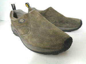 MERRELL JUNGLE MOC WRAP GUNSMOKE Mens 10.5M Iron Gray Suede Slip On Shoes