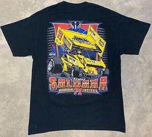 "2013 Joey Saldana ""Brownsburg Bullet"" Motter Motorsports Sprint Car Tee - Large"