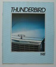 FORD THUNDERBIRD 1981 dealer brochure catalog - French - Canada