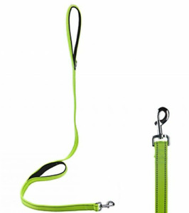 SAFETY CLOSE CONTROL DOG LEAD WITH GLOW IN THE DARK STITCHING