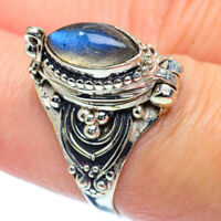 Poision Labradorite 925 Sterling Silver Ring Size 7.75 Ana Co Jewelry R38152F