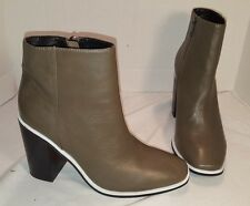 NEW ANTHROPOLOGIE SOL SANA OLIVE LEATHER FOX BOOTIES BOOTS WOMEN'S US 8 38