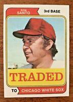 """1974 Topps Baseball Traded #270T Ron Santo """"HOF"""" (White Sox) """"NM/MT"""""""