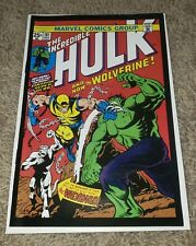 THE INCREDIBLE HULK #181  MINI COMIC 1ST APPEARANCE WOLVERINE! VF/NM CONDITION!