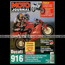 MOTO JOURNAL 1163 YAMAHA TRX 850 DUCATI 916 BIPOSTO BRITTEN PARIS-DAKAR 1995