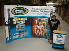 Pro 10 Pop Up Booth Display Banner Trade Show Stand Full Graphics Warranty