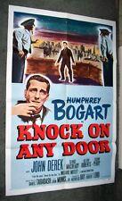 KNOCK ON ANY DOOR original one sheet movie poster HUMPHREY BOGART/JOHN DEREK