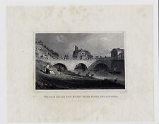 THE RACE BRIDGE FAIR MOUNT WATER WORKS Philadelphia 1831 Engraving Print