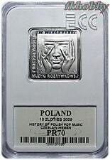 Poland 2009 silver 10 zl Czesław Niemen Music Composer klipa PR70
