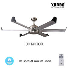 60 inch 150CM Large Reversible DC Ceiling Fan 6 Blade W/ Remote - Brushed Nickel