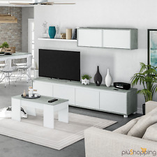Wall System Modern White Mobile Living Room TV Lounge Hanging Shelf